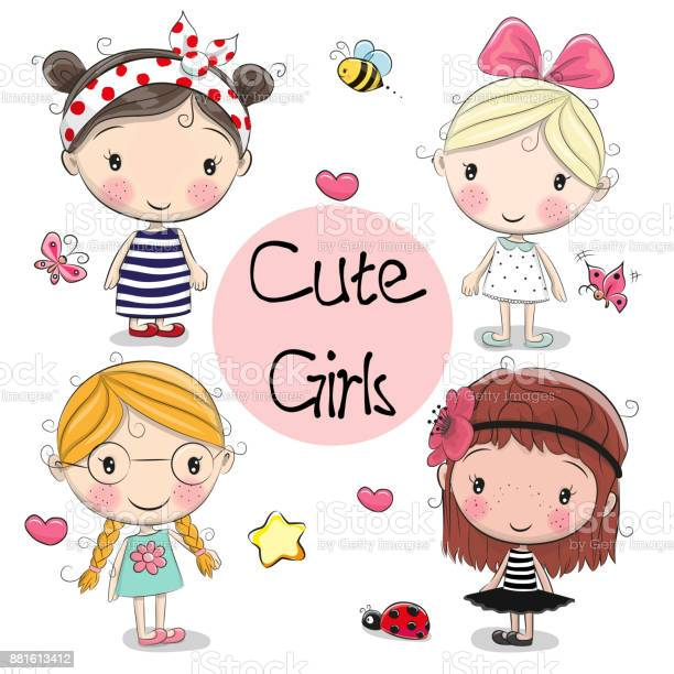 Four cute girls on a white background vector id881613412?b=1&k=6&m=881613412&s=612x612&h=iimv0rbw p 0og gpgnmjzc7ykask mhgdt2hwwkixc=