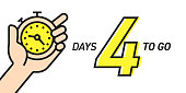 Four Days Left Countdown Vector Illustration Template