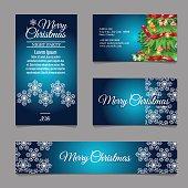 Four designer Christmas business cards for your needs