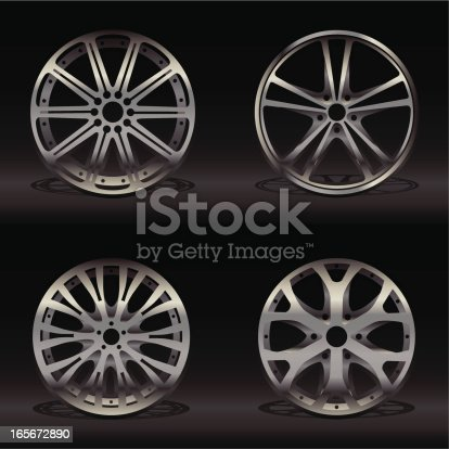 Collection of stylish Alloy Wheels.