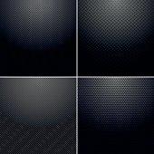 Set of black metallic textures