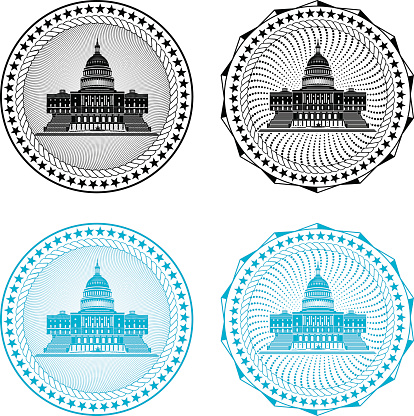 Stamp with Capitol Building