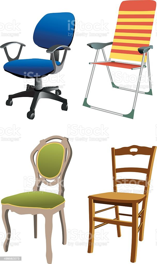Four Different Chairs Stock Illustration Download Image Now Istock