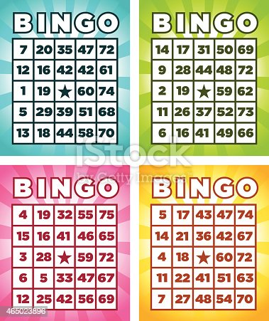 istock Four different colored bingo cards 465023896