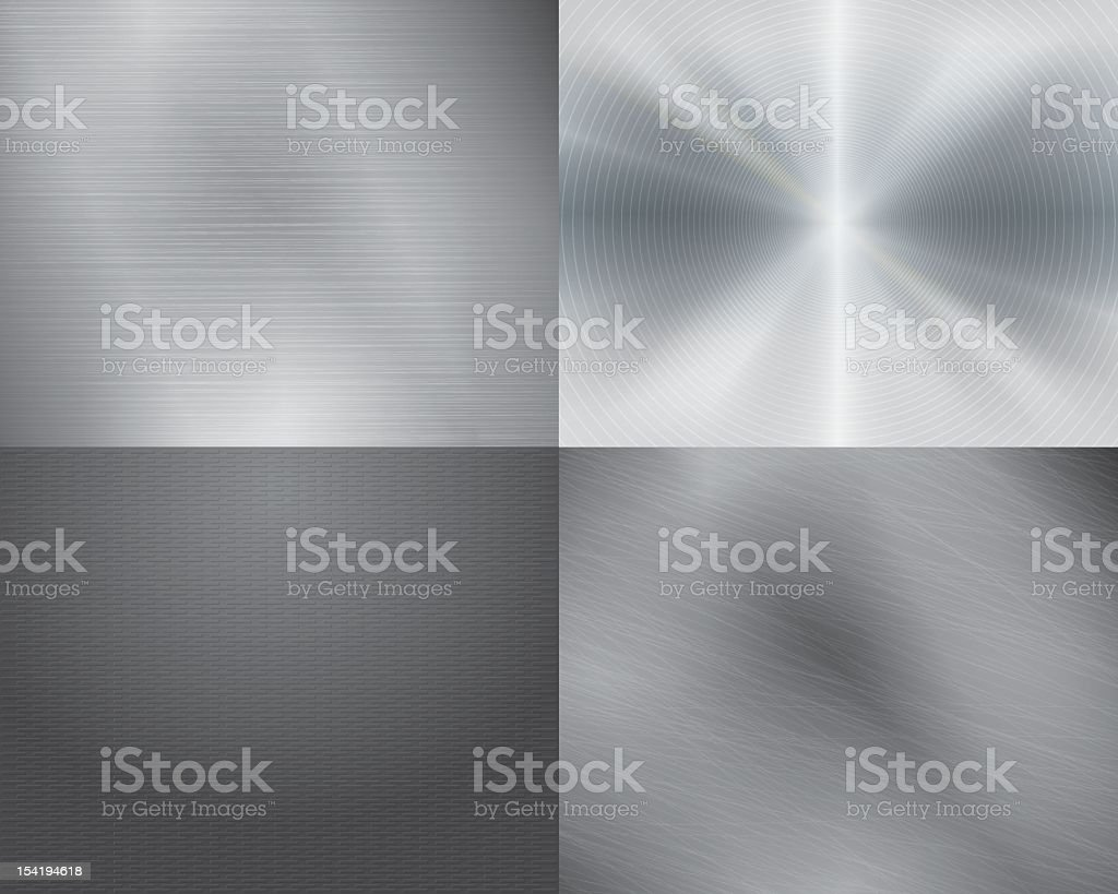 Four different displays of the color grey in gradation vector art illustration