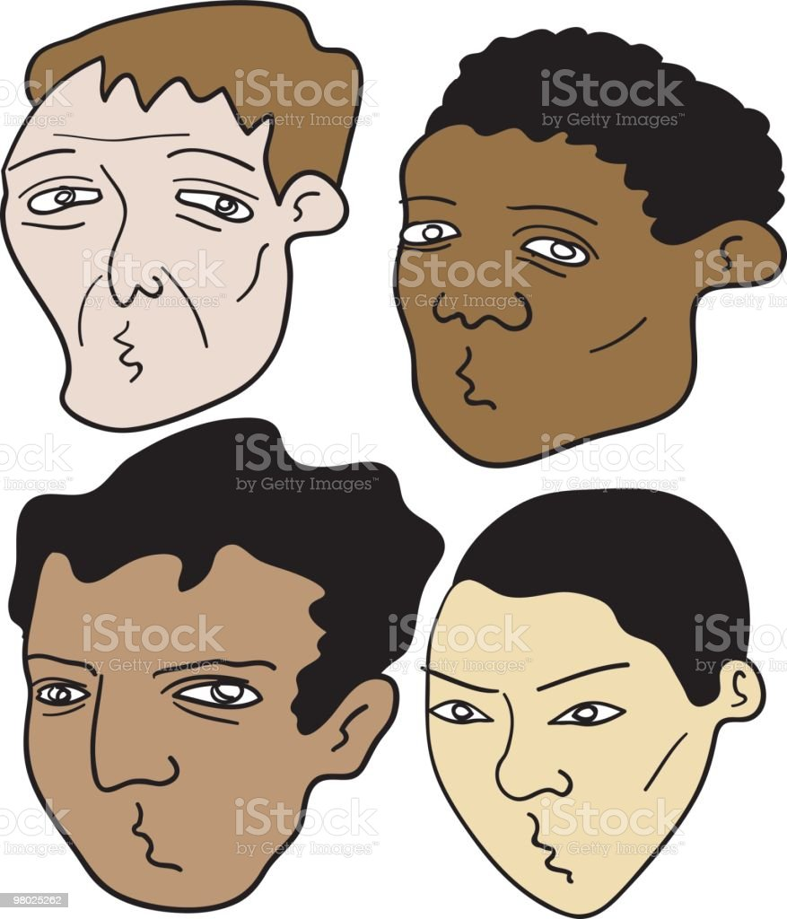 four dudes heads royalty-free four dudes heads stock vector art & more images of adult