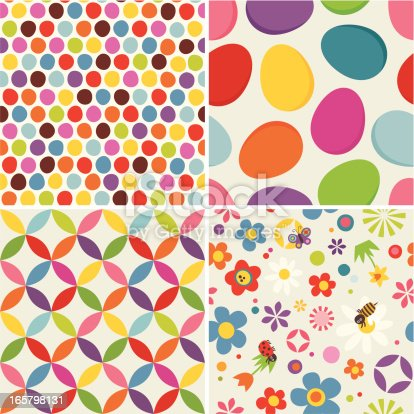 istock Four Easter seamless pattern 165798131