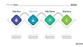 Process chart slide template. Business data. Graph, diagram. Creative concept for infographic, templates, presentation. Can be used for topics like strategy, finance.