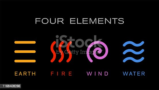 Four elements new stock illustration