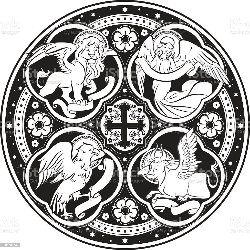 Four evangelists vector art illustration