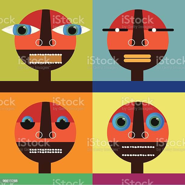 Four Faces-vektorgrafik och fler bilder på Ansiktsuttryck
