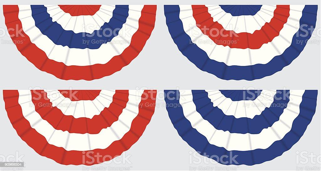Four Flag Buntings vector art illustration