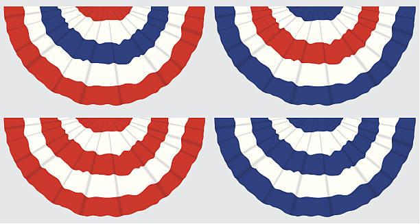 Bandeira Buntings quatro - ilustração de arte em vetor