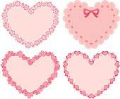 Vector illustration of four frames for Valentine's day