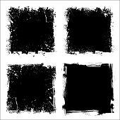 Four grunge frames