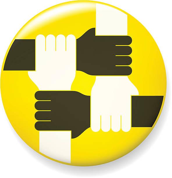 Four Hand Pin vector art illustration