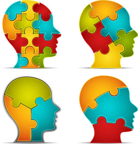 Puzzle head – Vektorgrafik