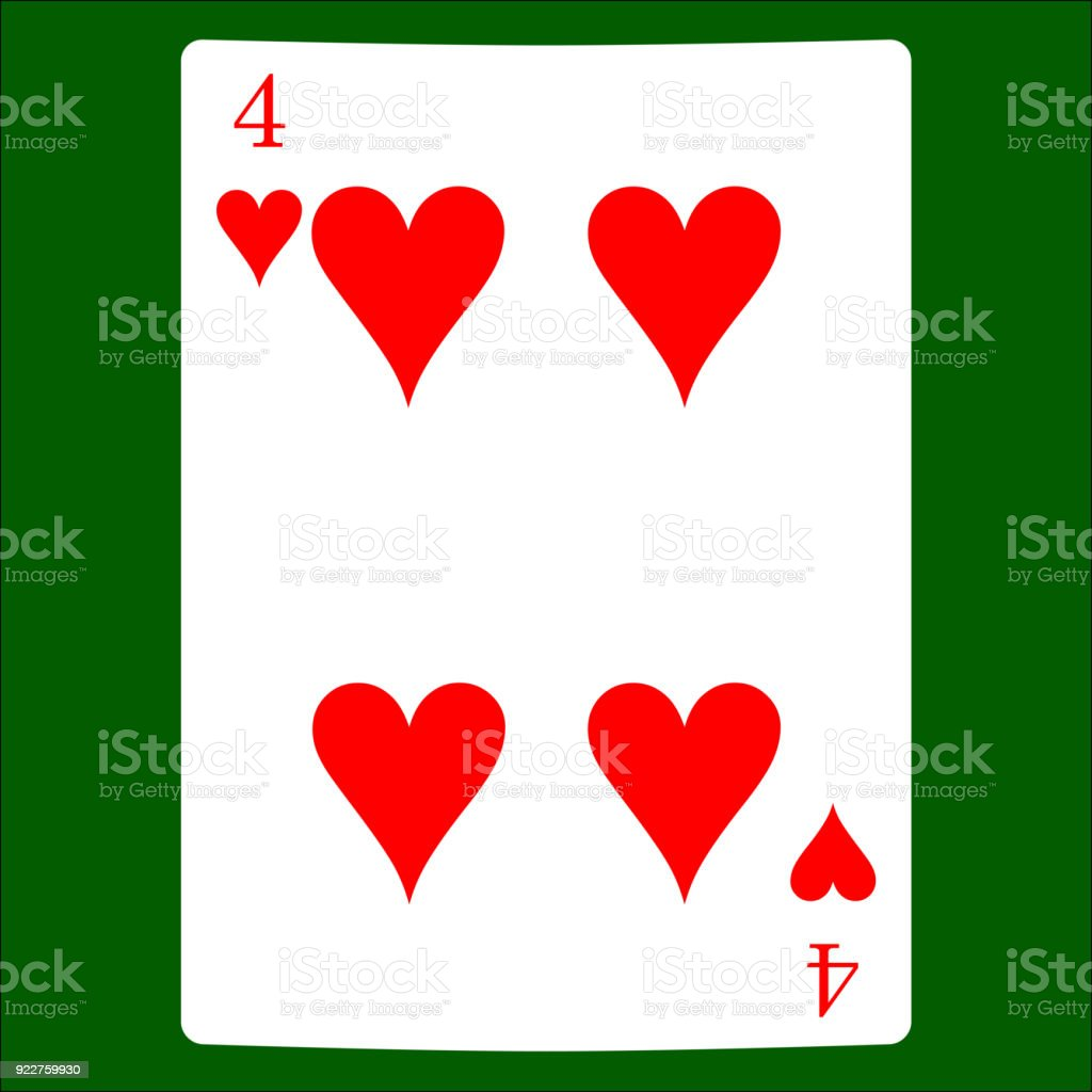 Four hearts card suit icon vector playing cards symbols vector set card suit icon vector playing cards symbols vector set icon symbol biocorpaavc