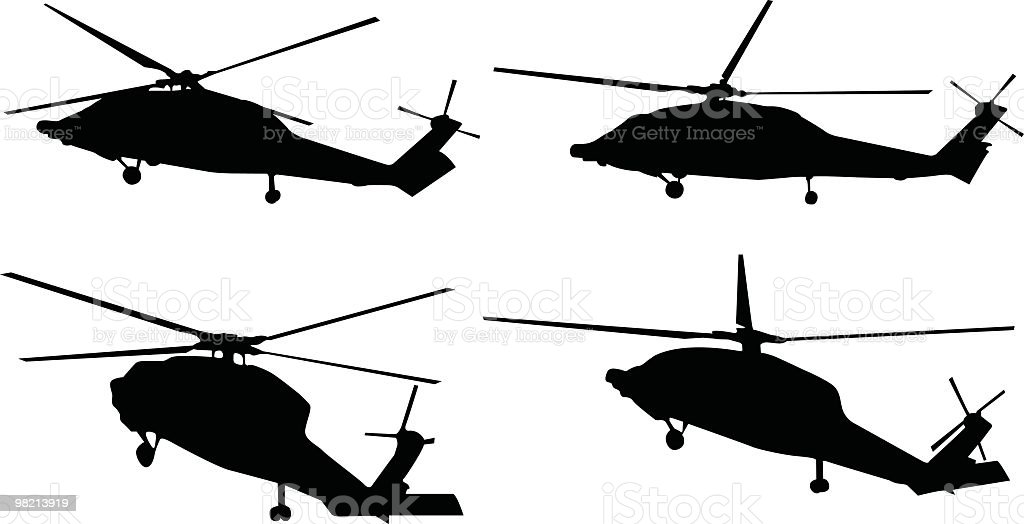 Four helicopters to use in your design royalty-free four helicopters to use in your design stock vector art & more images of air vehicle