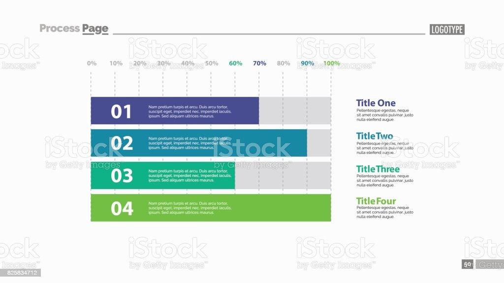 Four Horizontal Bars Slide Template vector art illustration