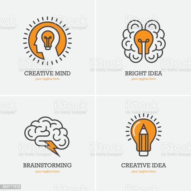 Four icons with human head brain and light bulb vector id653771878?b=1&k=6&m=653771878&s=612x612&h=uxsl6n5vgketsylmolmetbgpzaqkk8bnnpsa23rmr6s=