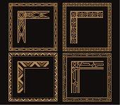 A set of art deco theme border. zip contains AI and hi-res jpeg,