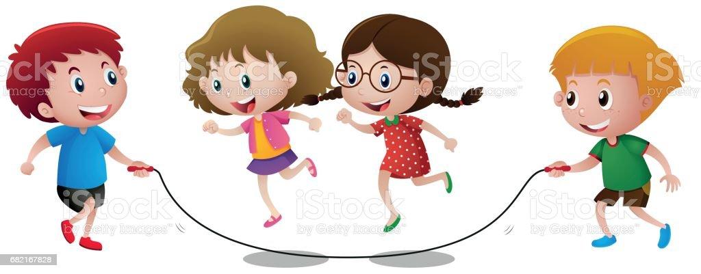 royalty free jump rope clip art vector images illustrations istock rh istockphoto com jump rope pictures clip art jump rope for heart free clip art