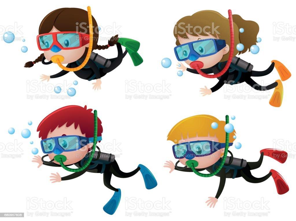 royalty free cartoon scuba diver pictures clip art vector images rh istockphoto com scuba diver clipart png cartoon scuba diver clipart