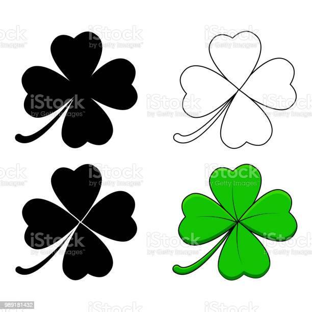 Four leaf clover design isolated on white background vector id989181432?b=1&k=6&m=989181432&s=612x612&h=wgwdwypuiojvryk5cn6hnn1zlc4ljx72redasays5yk=