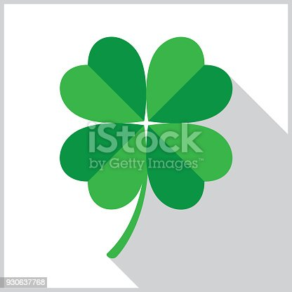 istock Four Leaf Clover Icon 930637768