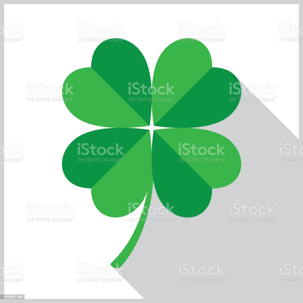 Four Leaf Clover Icon vector art illustration