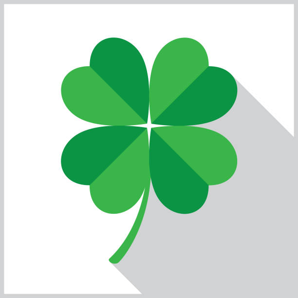 Four Leaf Clover Icon Vector illustration of a square four leaf clover icon. good luck charm stock illustrations