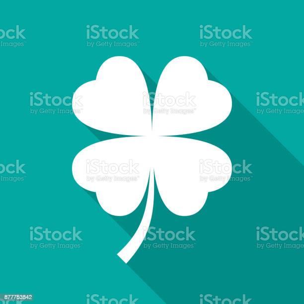 Four leaf clover icon with long shadow flat design style vector id877753842?b=1&k=6&m=877753842&s=612x612&h=myamrfcg7phqjflxpcvlr2wgrbofnrq3s6leayvpmp0=