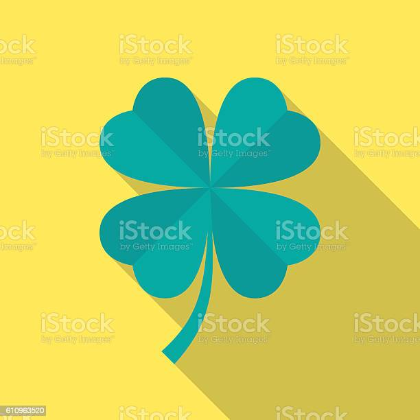 Four leaf clover icon with long shadow vector id610963520?b=1&k=6&m=610963520&s=612x612&h= ip2ckbqqivfx0lx jgzy lcnhveman0yigylbmn0s4=
