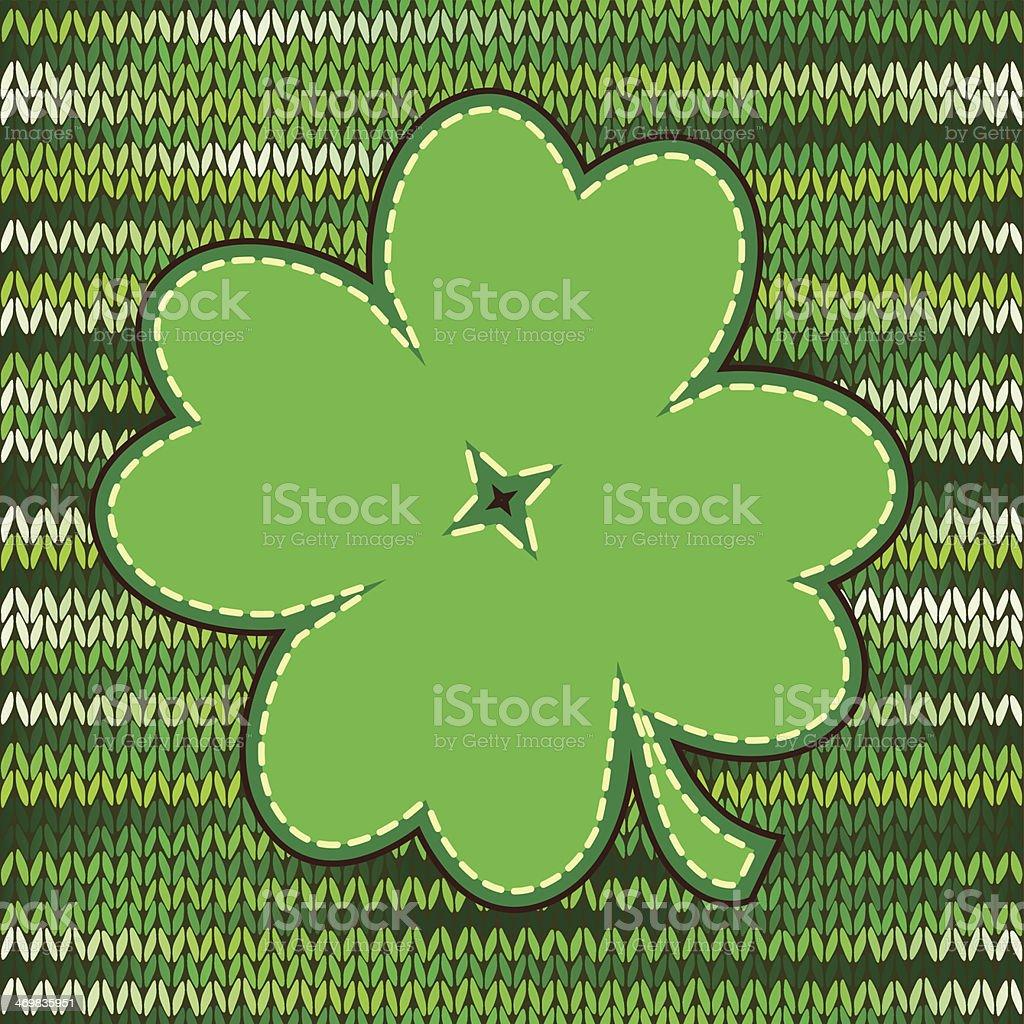 Four leaf clover label