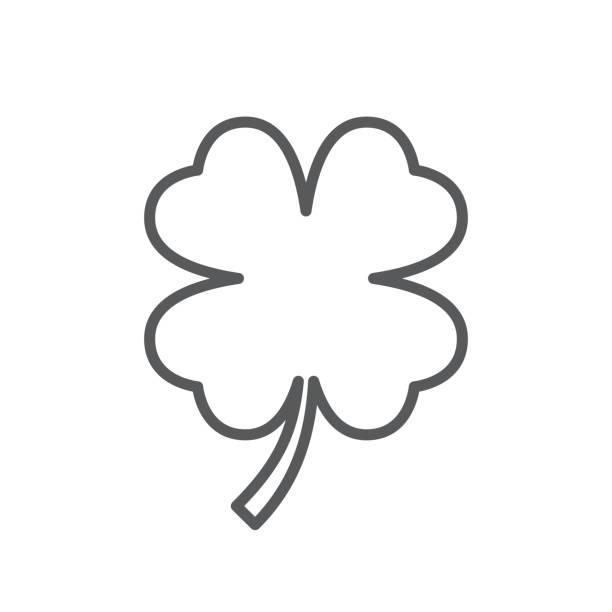 Kleeblatt malen blättriges 4
