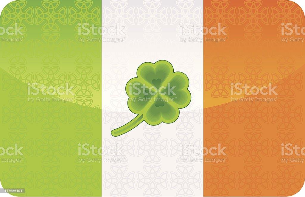 Czterolistna Koniczyna Na Flaga Irlandii Stockowe Grafiki