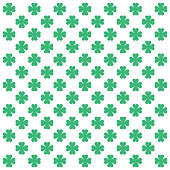 Four leaf clover or shamrock on white background vector illustration
