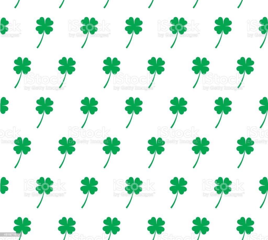 four leaf clover seamless pattern stock vector art 491977872 istock