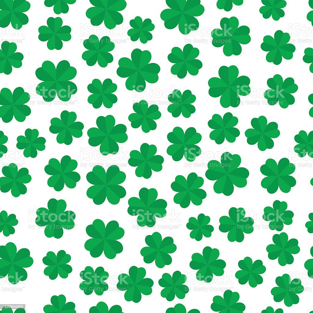 four leaf clover seamless pattern stock vector art 537644353 istock