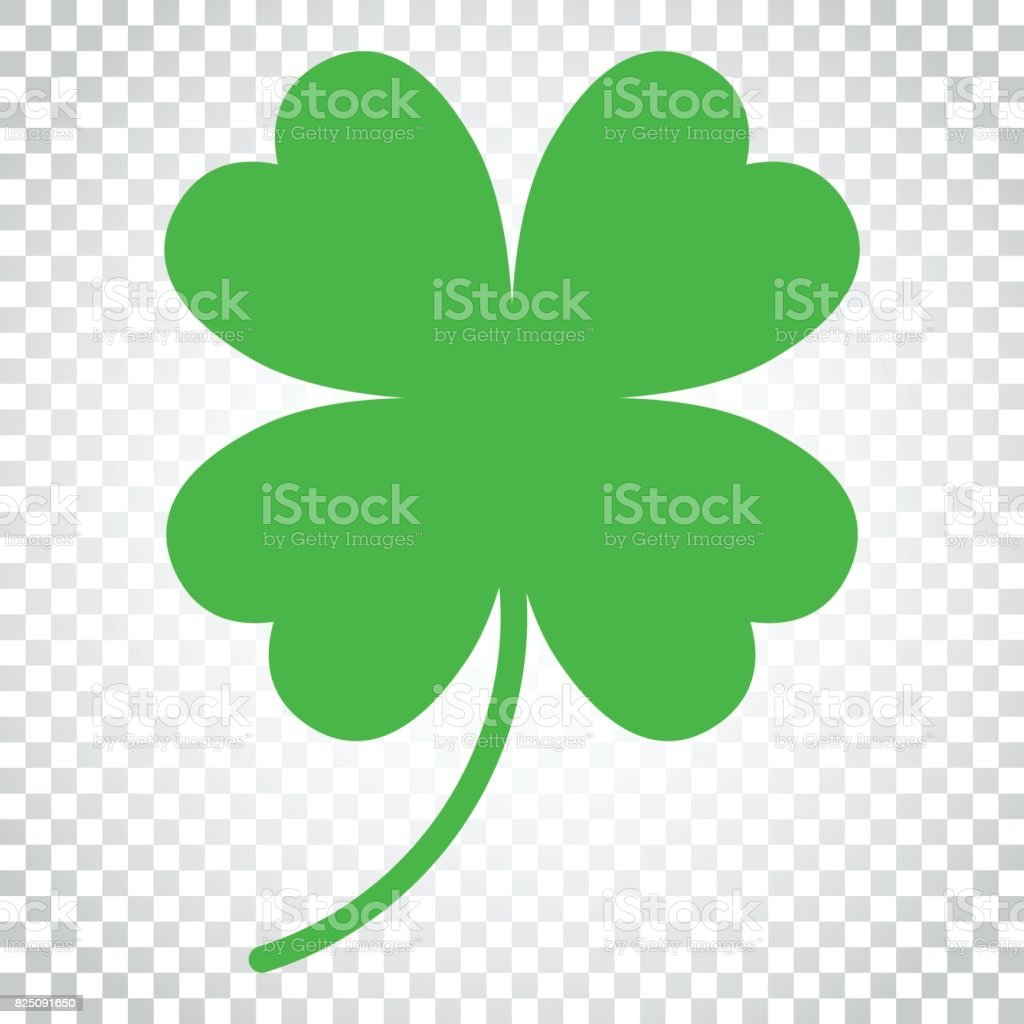 Four leaf clover vector icon. Clover silhouette simple icon illustration. Simple business concept pictogram on isolated background. vector art illustration