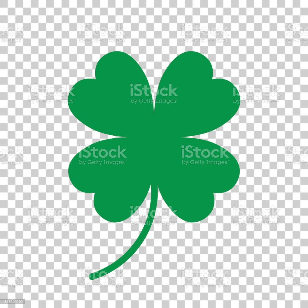 Four leaf clover vector icon. Clover silhouette simple icon illustration. vector art illustration