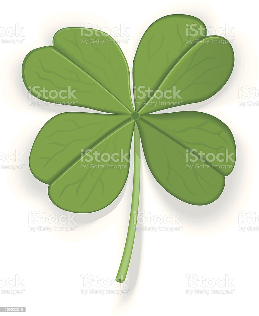 Four Leaf Clover royalty-free stock vector art