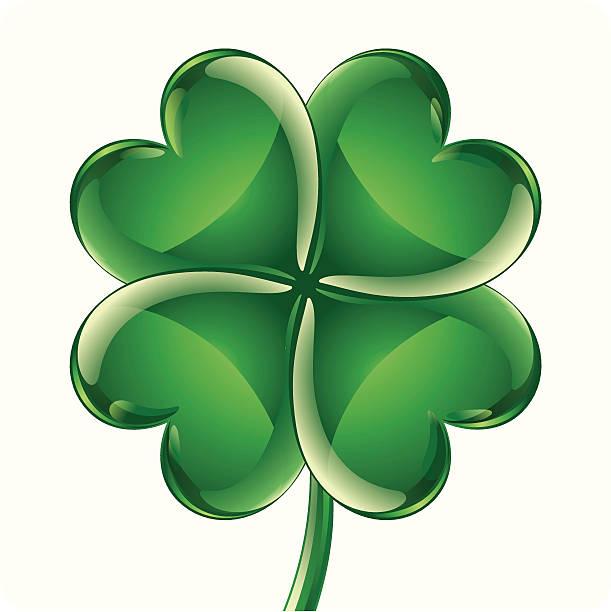 ilustrações, clipart, desenhos animados e ícones de símbolo do trevo de quatro folhas - boa sorte