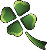 four leaf shiny clover