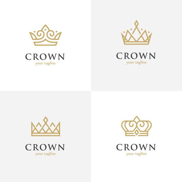 四線性冠圖示。 - 皇冠 頭飾 幅插畫檔、美工圖案、卡通及圖標