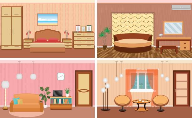 Room Clip Art: Best Simple Living Room Illustrations, Royalty-Free Vector