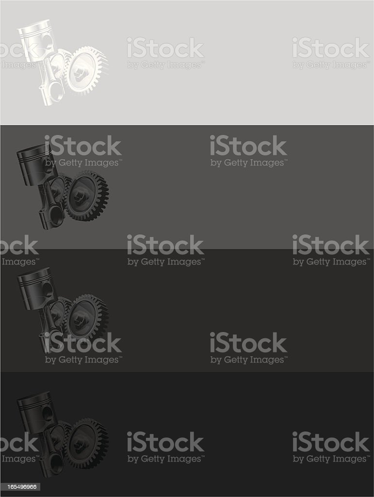 four mechanic banners royalty-free stock vector art