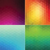 4 mosaic hexagon style abstract background. JPG and Aics3 files are included.