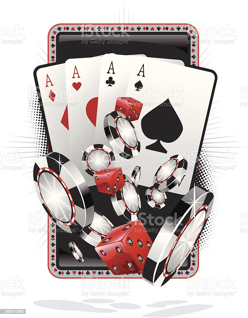 four of a kind poker hand royalty-free stock vector art